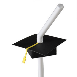 mortar board graduation straw topper decoration