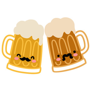 kawaii beer mugs