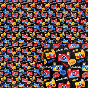 magical cameras background paper