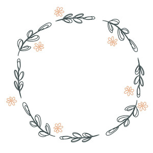 sketched circle wreath