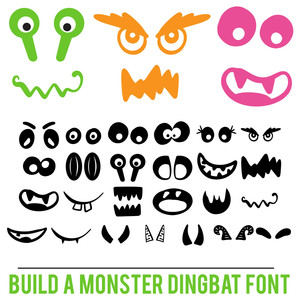build a monster dingbat font