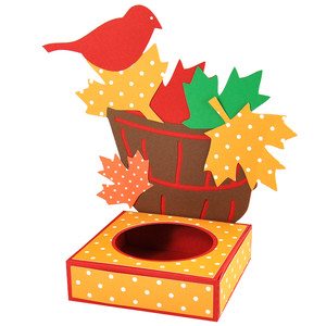 autumn leaf basket cupcake box