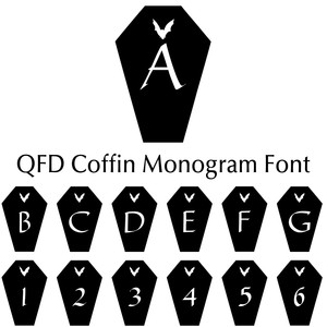 qfd coffin monogram font