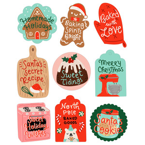 christmas baking gift tags