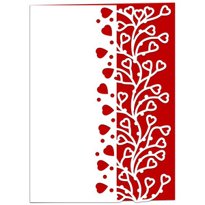 entwined hearts lace edged card