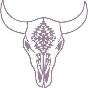 cow skull tribal