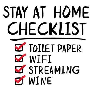 stay at home wine checklist