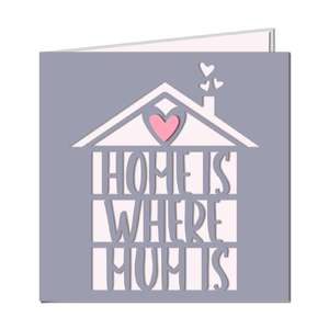 'home is where mum is' card