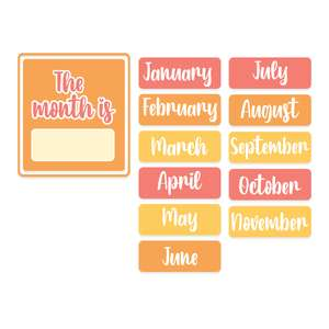 months kids activity board planner