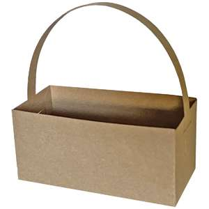 rectangle solid crate box with handle