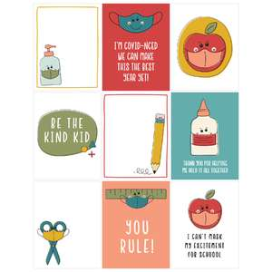 back to school mask notecards