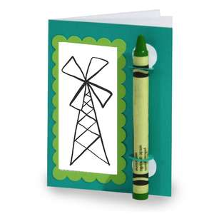 color and sketch book - windmill