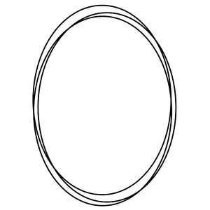 oval sketch frame