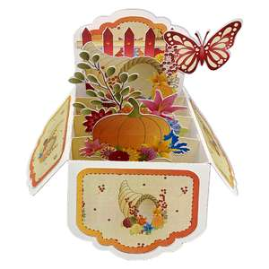 5x7 autumn pop up card in a box