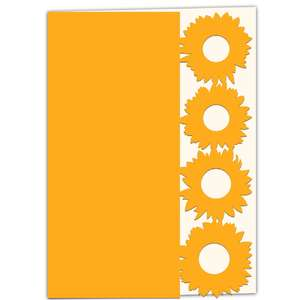 sunflower lace edged card