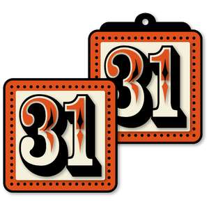 halloween 31 harlequin tile tag