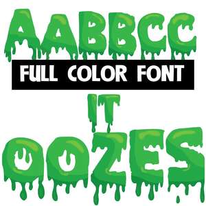 it oozes color font