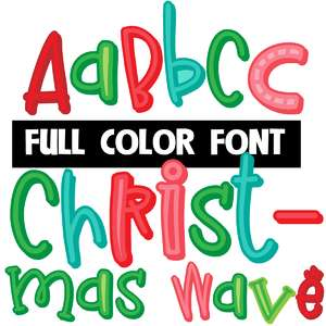 christmas wave color font