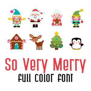 so very merry full color font