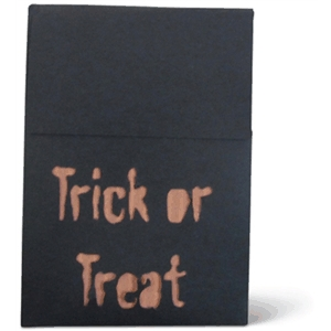 trick or treat halloween favor box / bag