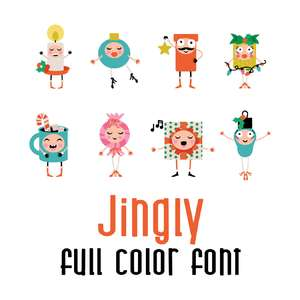 jingly full color font