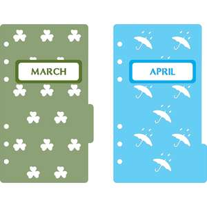 6-ring a6 binder march & april dividers