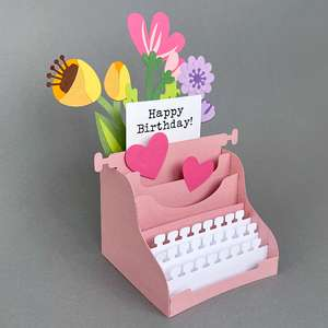 typewriter box card
