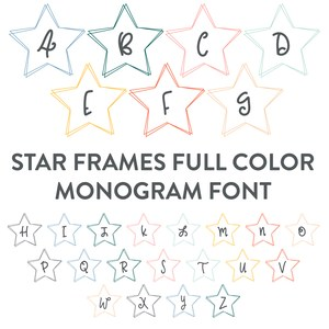 star wire frame full color monogram font