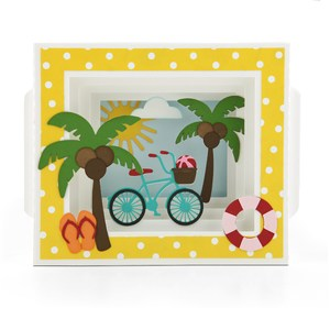 shadow box card beach cruiser