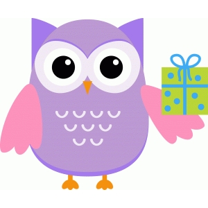party owl with present