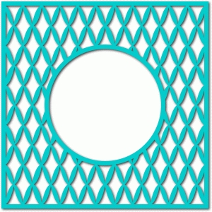diamond frame circle cutout