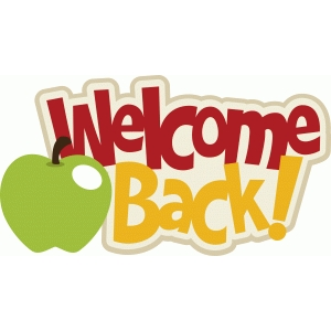 welcome back title/phrase with apple
