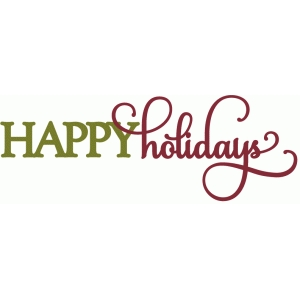 happy holidays - perfect flourish