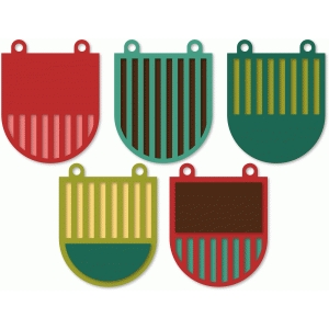 striped banners - round