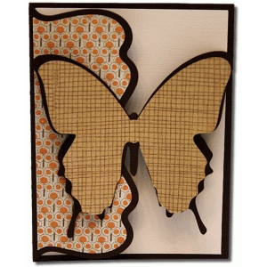 a2 large butterfly fancy fold card