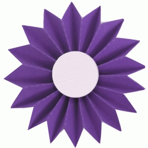 3d accordion pleated rosette flower
