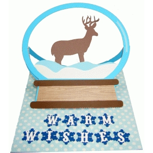 snow globe easel card