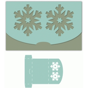 snowflake fold over gift card holder