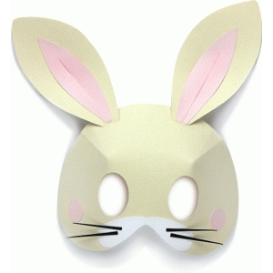 3d bunny mask