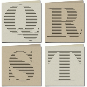 stripe monogram card qrst
