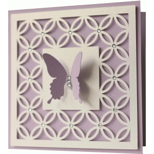 5x5 butterfly card