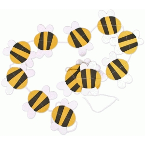bumble bee garland