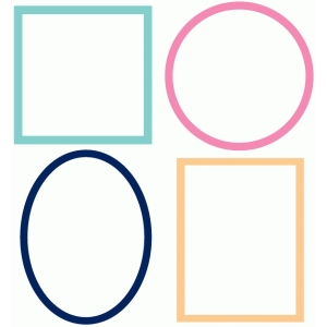 set of 4 basic frames