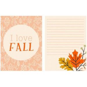 printable fall journaling cards