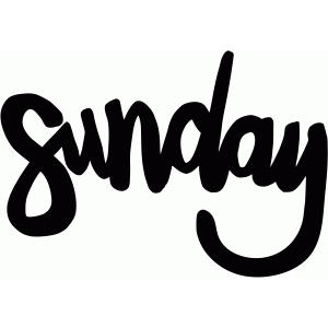 sunday | days of the week.