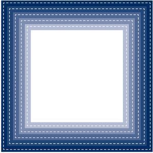 nested stitched square frames