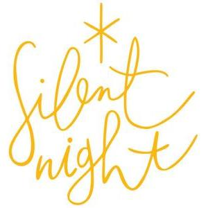 silent night hand lettered