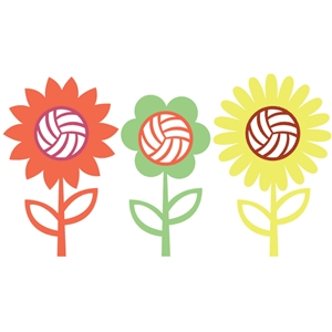 volleyball flowers