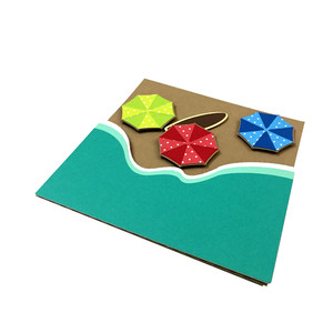 beach umbrella card