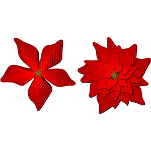 nested poinsettia